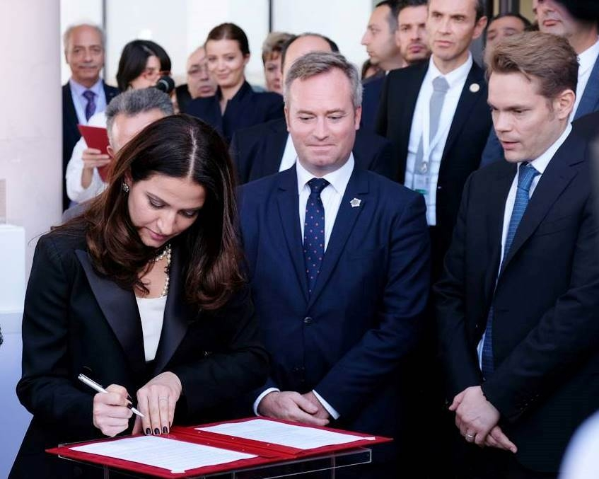 Signature d'une déclaration d'intention